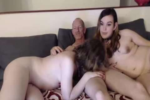 Two ladyboys have a joy Their chap