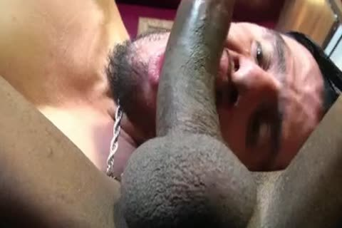 enormous booty, enormous weenie ebony shelady actually pokes guy